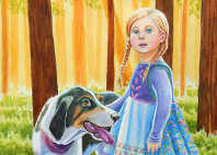 blue hound fairytale